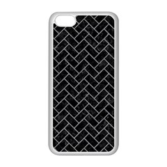 Brick2 Black Marble & Gray Colored Pencilbrick2 Black Marble & Gray Colored Pencil Apple Iphone 5c Seamless Case (white) by trendistuff