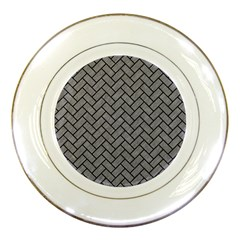 Brick2 Black Marble & Gray Colored Pencil (r) Porcelain Plates by trendistuff