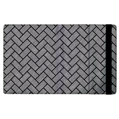 Brick2 Black Marble & Gray Colored Pencil (r) Apple Ipad 2 Flip Case by trendistuff