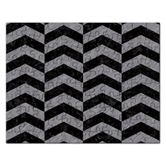 Chevron2 Black Marble & Gray Colored Pencil Rectangular Jigsaw Puzzl by trendistuff