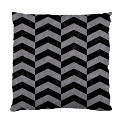 Chevron2 Black Marble & Gray Colored Pencil Standard Cushion Case (one Side) by trendistuff