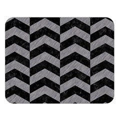Chevron2 Black Marble & Gray Colored Pencil Double Sided Flano Blanket (large)  by trendistuff