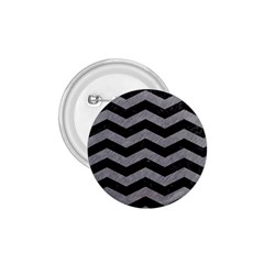 Chevron3 Black Marble & Gray Colored Pencil 1 75  Buttons
