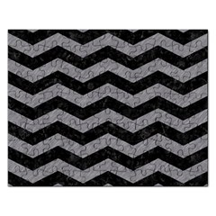 Chevron3 Black Marble & Gray Colored Pencil Rectangular Jigsaw Puzzl by trendistuff