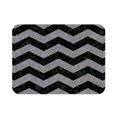Chevron3 Black Marble & Gray Colored Pencil Double Sided Flano Blanket (mini)  by trendistuff
