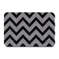 Chevron9 Black Marble & Gray Colored Pencil (r) Plate Mats by trendistuff