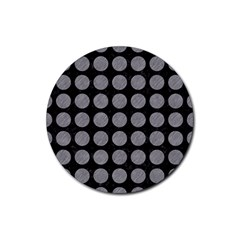 Circles1 Black Marble & Gray Colored Pencilcircle1 Black Marble & Gray Colored Pencil Rubber Coaster (round)  by trendistuff