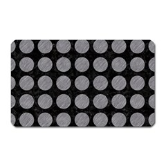 Circles1 Black Marble & Gray Colored Pencilcircle1 Black Marble & Gray Colored Pencil Magnet (rectangular) by trendistuff