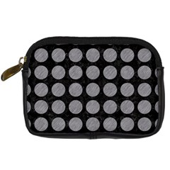 Circles1 Black Marble & Gray Colored Pencilcircle1 Black Marble & Gray Colored Pencil Digital Camera Cases by trendistuff