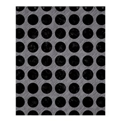Circles1 Black Marble & Gray Colored Pencil (r) Shower Curtain 60  X 72  (medium)  by trendistuff