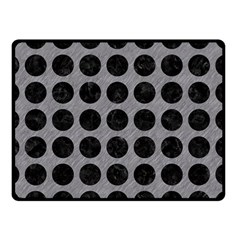 Circles1 Black Marble & Gray Colored Pencil (r) Double Sided Fleece Blanket (small)  by trendistuff