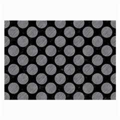 Circles2 Black Marble & Gray Colored Pencil Large Glasses Cloth by trendistuff