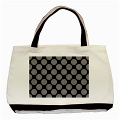 Circles2 Black Marble & Gray Colored Pencil Basic Tote Bag (two Sides) by trendistuff
