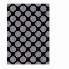 Circles2 Black Marble & Gray Colored Pencil Large Garden Flag (two Sides) by trendistuff