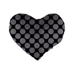 Circles2 Black Marble & Gray Colored Pencil Standard 16  Premium Flano Heart Shape Cushions by trendistuff
