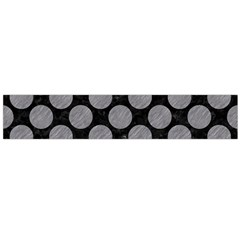 Circles2 Black Marble & Gray Colored Pencil Flano Scarf (large) by trendistuff