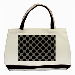 Circles2 Black Marble & Gray Colored Pencil (r) Basic Tote Bag by trendistuff