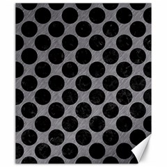 Circles2 Black Marble & Gray Colored Pencil (r) Canvas 20  X 24   by trendistuff
