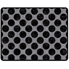 Circles2 Black Marble & Gray Colored Pencil (r) Fleece Blanket (medium)  by trendistuff
