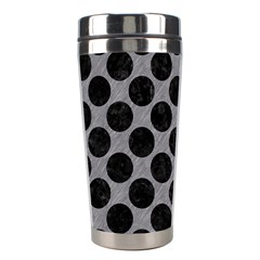 Circles2 Black Marble & Gray Colored Pencil (r) Stainless Steel Travel Tumblers by trendistuff