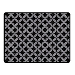 Circles3 Black Marble & Gray Colored Pencil Fleece Blanket (small) by trendistuff