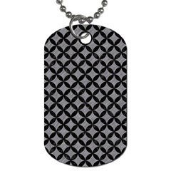 Circles3 Black Marble & Gray Colored Pencil (r) Dog Tag (one Side) by trendistuff