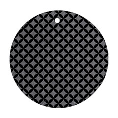 Circles3 Black Marble & Gray Colored Pencil (r) Round Ornament (two Sides) by trendistuff