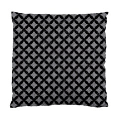 Circles3 Black Marble & Gray Colored Pencil (r) Standard Cushion Case (two Sides) by trendistuff