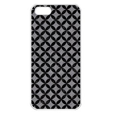 Circles3 Black Marble & Gray Colored Pencil (r) Apple Iphone 5 Seamless Case (white) by trendistuff