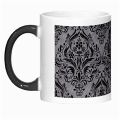 Damask1 Black Marble & Gray Colored Pencil (r) Morph Mugs by trendistuff