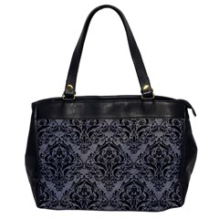 Damask1 Black Marble & Gray Colored Pencil (r) Office Handbags by trendistuff