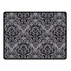 Damask1 Black Marble & Gray Colored Pencil (r) Fleece Blanket (small) by trendistuff