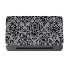 Damask1 Black Marble & Gray Colored Pencil (r) Memory Card Reader With Cf by trendistuff