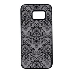 Damask1 Black Marble & Gray Colored Pencil (r) Samsung Galaxy S7 Black Seamless Case by trendistuff