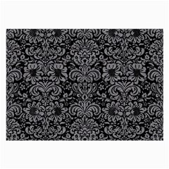 Damask2 Black Marble & Gray Colored Pencil Large Glasses Cloth by trendistuff