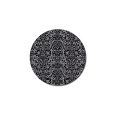 Damask2 Black Marble & Gray Colored Pencil (r) Golf Ball Marker (10 Pack) by trendistuff