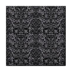 Damask2 Black Marble & Gray Colored Pencil (r) Face Towel by trendistuff