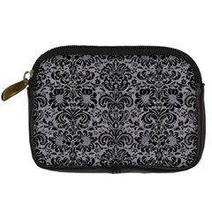 Damask2 Black Marble & Gray Colored Pencil (r) Digital Camera Cases by trendistuff