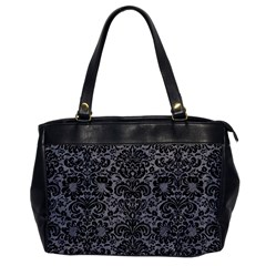 Damask2 Black Marble & Gray Colored Pencil (r) Office Handbags by trendistuff