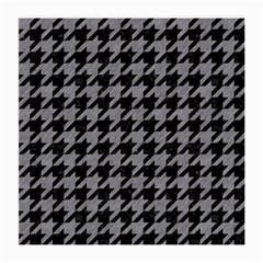 Houndstooth1 Black Marble & Gray Colored Pencil Medium Glasses Cloth by trendistuff
