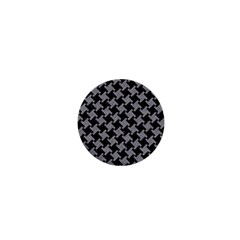 Houndstooth2 Black Marble & Gray Colored Pencil 1  Mini Buttons by trendistuff