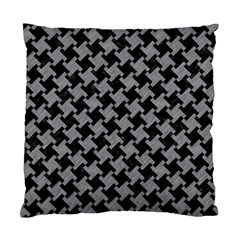 Houndstooth2 Black Marble & Gray Colored Pencil Standard Cushion Case (two Sides) by trendistuff