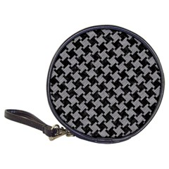 Houndstooth2 Black Marble & Gray Colored Pencil Classic 20 Cd Wallets by trendistuff