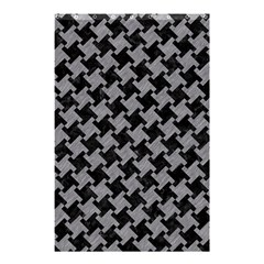 Houndstooth2 Black Marble & Gray Colored Pencil Shower Curtain 48  X 72  (small)  by trendistuff