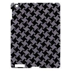 Houndstooth2 Black Marble & Gray Colored Pencil Apple Ipad 3/4 Hardshell Case by trendistuff
