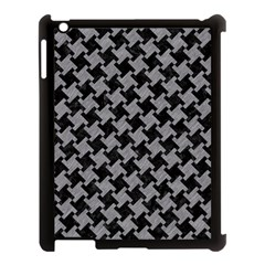Houndstooth2 Black Marble & Gray Colored Pencil Apple Ipad 3/4 Case (black) by trendistuff