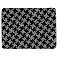 Houndstooth2 Black Marble & Gray Colored Pencil Samsung Galaxy Tab 7  P1000 Flip Case