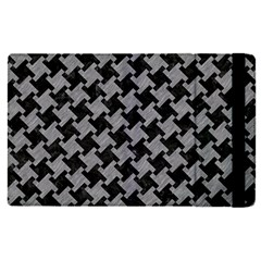 Houndstooth2 Black Marble & Gray Colored Pencil Apple Ipad Pro 12 9   Flip Case