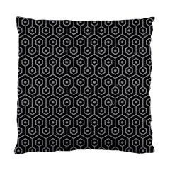 Hexagon1 Black Marble & Gray Colored Pencil Standard Cushion Case (one Side) by trendistuff