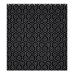 Hexagon1 Black Marble & Gray Colored Pencil Shower Curtain 66  X 72  (large)  by trendistuff